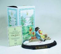 A Royal Doulton Winnie the Pooh collection figure group Going Sledging, No.1185, w.22cm, boxed