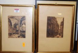 Assorted topographical etchings and prints (7)