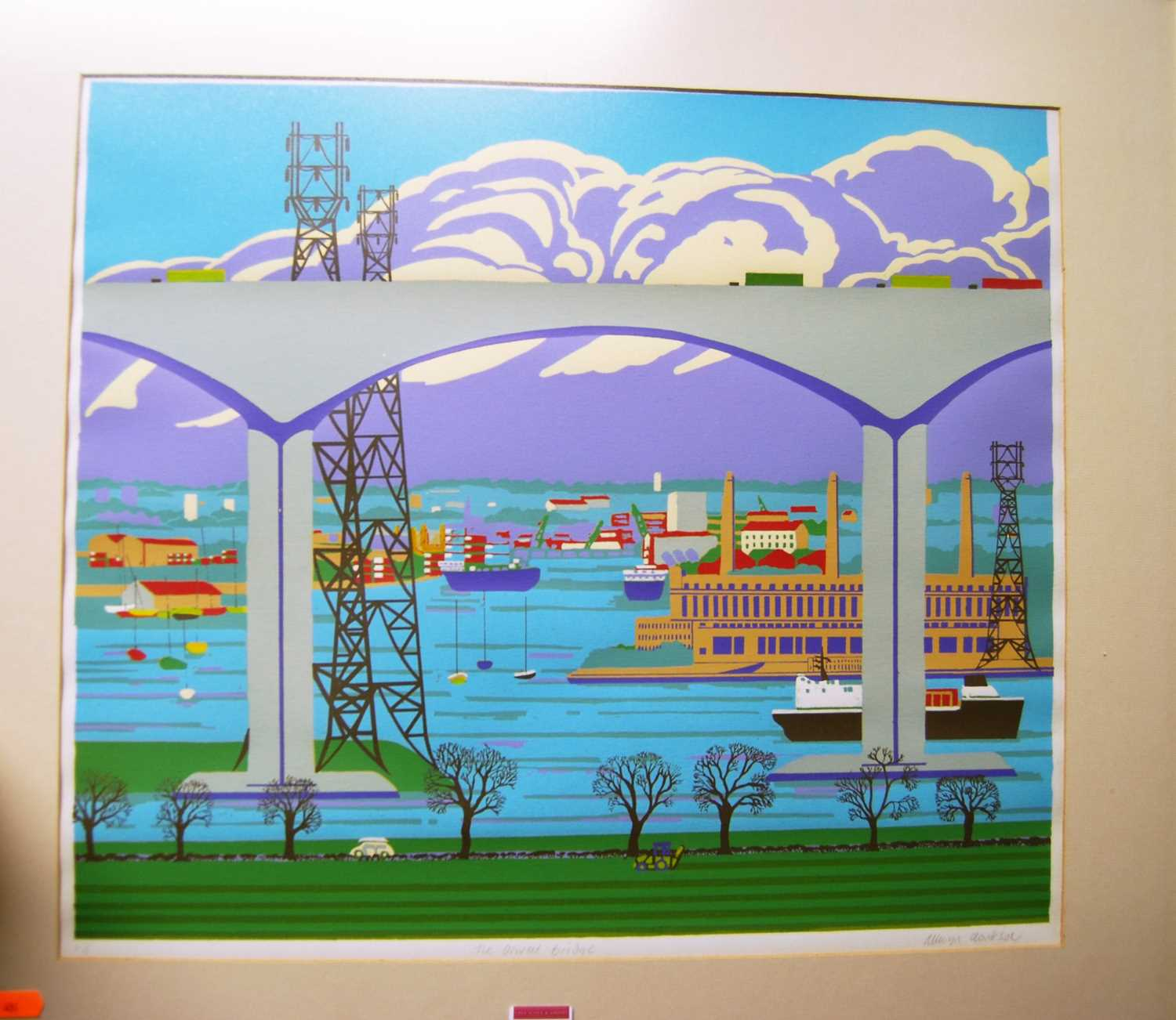 Allwyn Clarkson - The Orwell Bridge, limited edition lithograph, signed, titled and numbered in