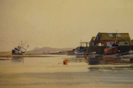 Godfrey Sayers (b.1942) - Low-tide on the estuary, watercolour, signed lower left, 36 x 48cm