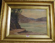 Early 20th century school - Coastal scene, oil on canvas board, signed twice lower right, 30 x 41cm