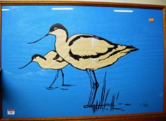Reg Snook - Wading Birds, lithograph, signed lower right, 52 x 76cm