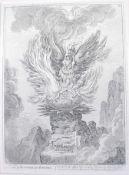 James Gillray (1756-1815) - Apotheosis of the Corsican Phoenix, monochrome engraving, published 1808