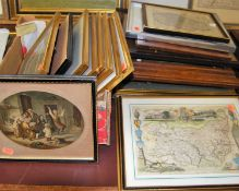 Assorted topographical engravings, largely being of local interest, to include Butley Priory in
