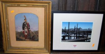 Assorted pictures and prints, to include Glyn Sheppard - River Blyth Moorings photographic print,