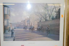 Neil Cawthorne (b.1936) - The High Street, Newmarket, limited edition print, signed and numbered