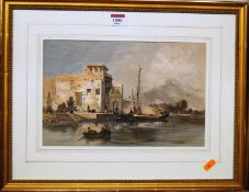 After David Roberts - North African scene, mezzotint, 20 x 31.5cm