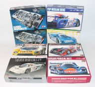 A 1/24 scale boxed high speed racing and classics sports car kit group, mixed manufactures to
