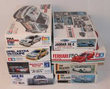 Eight various boxed 1/24 scale plastic high speed racing and sports car kits, mixed manufactures