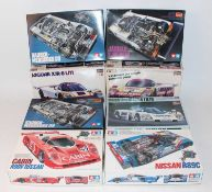 Eight various boxed 1/24 scale plastic high speed racing kits, mixed manufactures to include