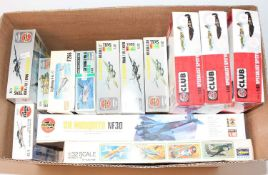 13 various mixed scale Airfix and other plastic aircraft kits, all appear as issued to include a