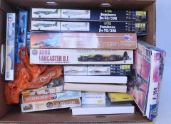 16 various boxed plastic mixed scale military related plastic kit and related accessories, mixed