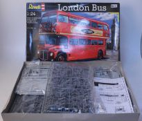 A Revell 1/24 scale boxed London Bus plastic kit group, two boxed examples, Ref. No. 07651, both