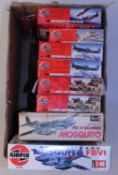 Eight various boxed mixed series Airfix and Revell mixed scale plastic military related kits to