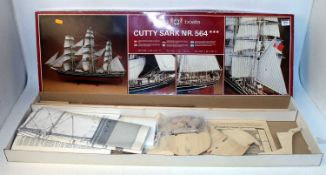 A Billings Boats No. 564 balsa wood, wooden and metal construction kit for a Cutty Sark boat,