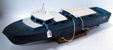 A wooden kit built model, part complete, RAF crash tender, length 90cm (requires completion)
