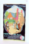 A double royal railway poster LNER The Booklovers Britain series artist Austin Cooper showing