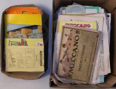 Large quantity of Meccano literature 1920s to 1960s, well used condition