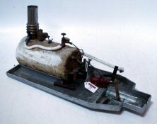 A stationary steam horizontal boiler suitable for radio control or steam boat use, heavily