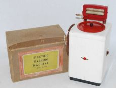 Chad Valley, electric washing machine, not tested, tinplate construction, complete with box,