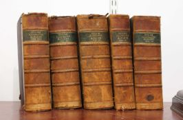 The English Illustrated magazine, five volumes dating from the late 19th century, quarter bound in