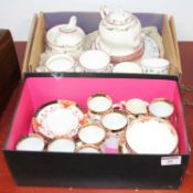 An early 20th century Sutherland porcelain part coffee service, together with another porcelain part