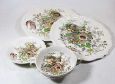 Two boxes containing a collection of ceramics, to include a Royal Doulton Hampshire pattern part