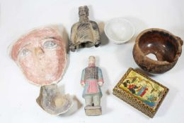 A collection of various eastern items to include a white glazed earthenware bowlCondition report: