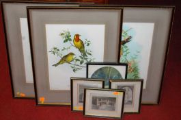 Assorted pictures and prints, to include topographical engravings and Suffolk interest, portrait