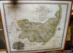 Joshua Neele - engraved map of the County of Suffolk, from an actual survey made in the years 1823/