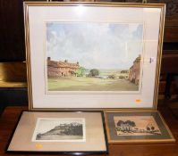 Edgar James Maybery (A. Simes 1887-1964) - Stirling Castle, etching, signed in pencil to the margin,
