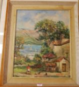R. de Masali - Bremo Griante, oil on canvas, signed and dated '60 lower right, 47 x 37cm