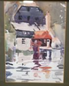 Paul Earee (1888-1968) - The MIllstream, watercolour, signed and titled to the picture in pencil, 23