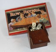 A box of miscellaneous items, to include a bakelite cased telephone, a boxed table Blow-football