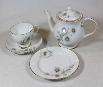 A box of miscellaneous china, to include Royal Albert Old Country Roses part tea set, hen-on-nest