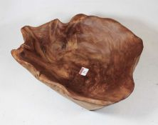A large sycamore table bowl, w.38cm