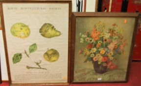Royal Horticultural Society gardening charts, pair of poster prints printed by Johnson Riddell &