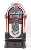 A Steepletone CD Rock i-1CD retro style illuminating floor standing jukebox CD player on stand, with