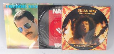 Queen and related, a collection of items to include Freddie Mercury - Mr Bad Guy LP (sealed),