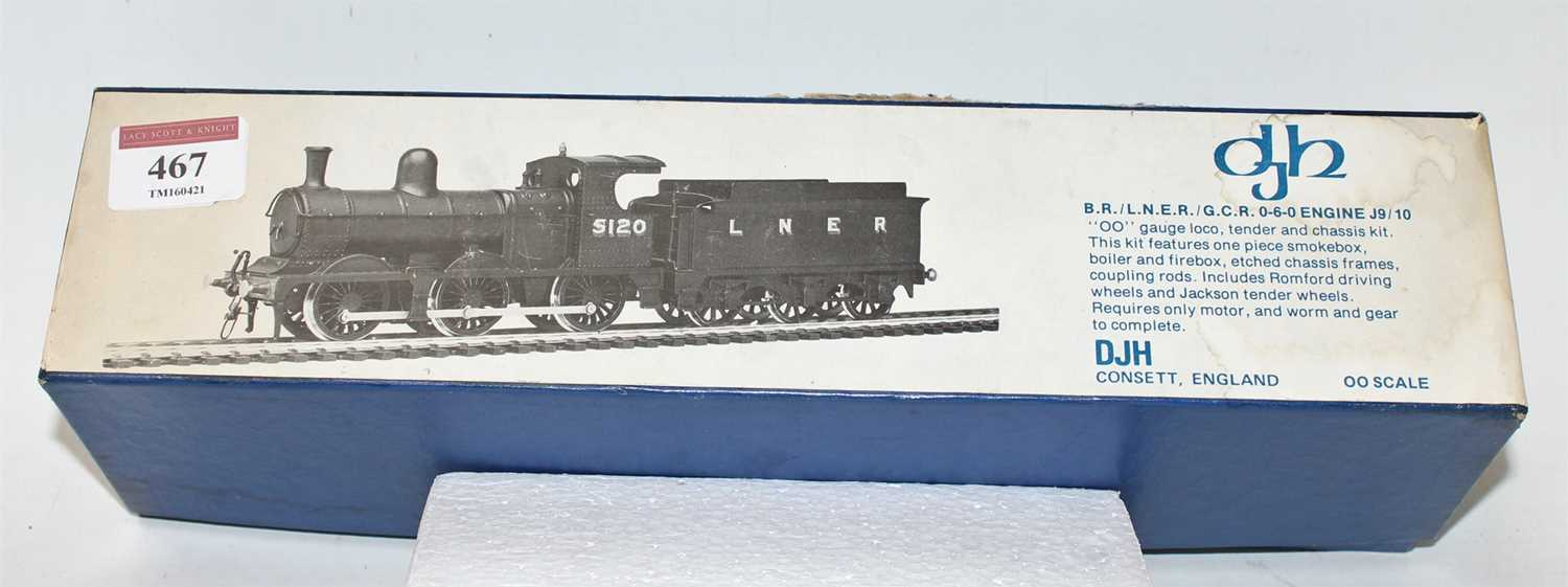 A DJH white metal kit to make a LNER/GCR Class J9/10 0-6-0 locomotive and tender, appears