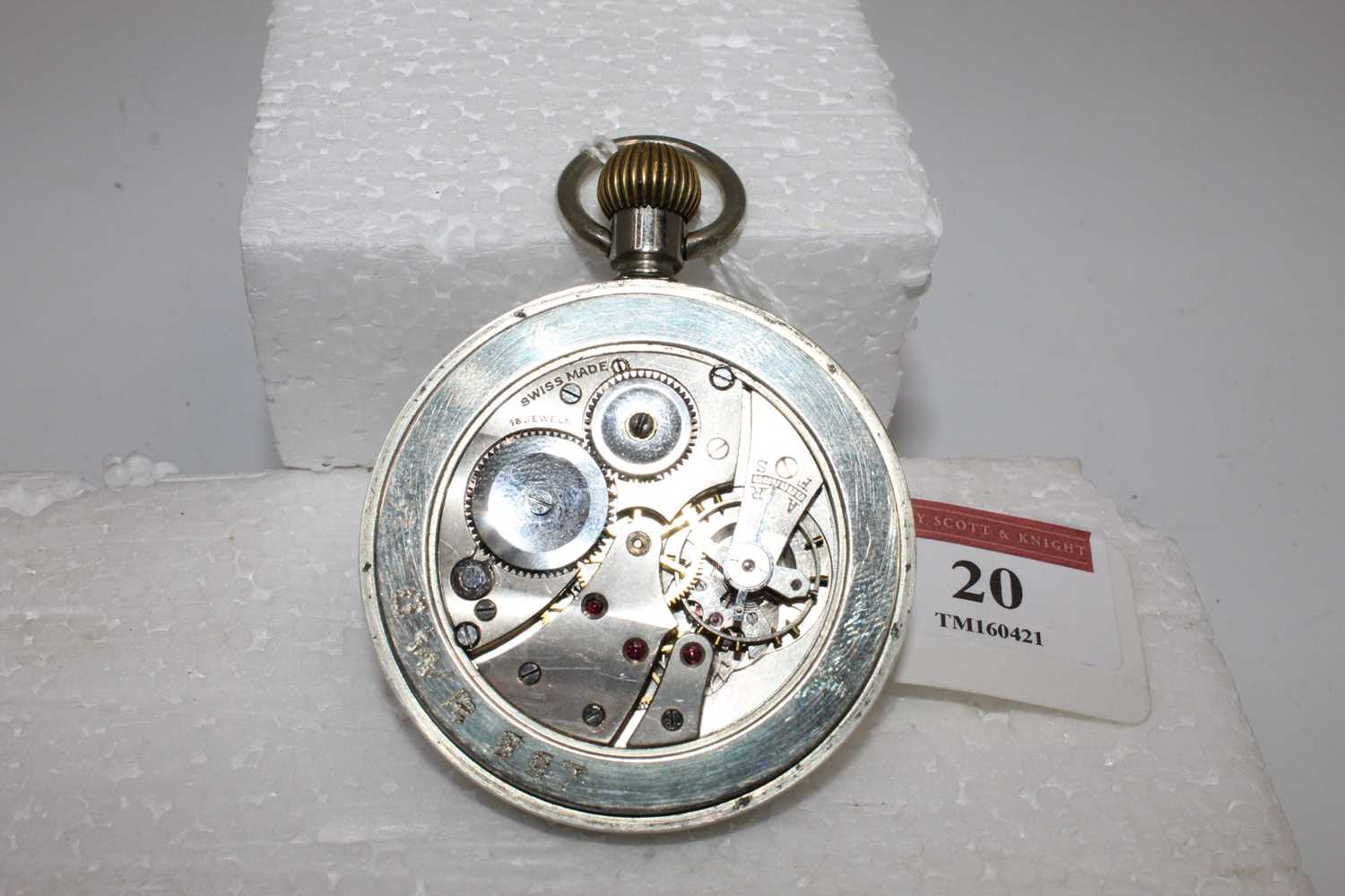 """Great Western Railway POCKET WATCH engraved on the back cover """"GWR 897"""" - Image 4 of 6"""