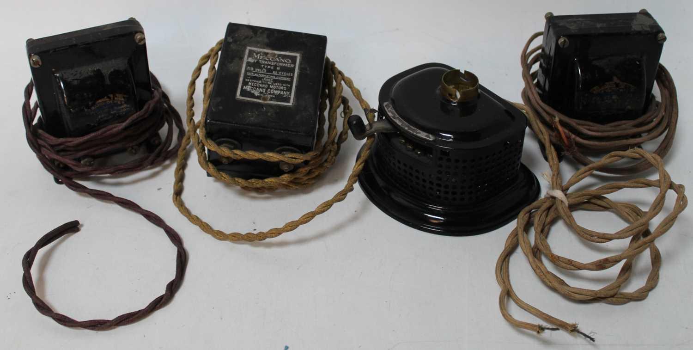 Four items for historical interest only: 2x Meccano Ferranti transformers; Meccano transformer 'B'