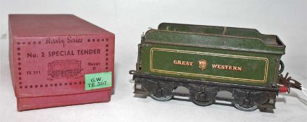 Hornby No.2 Special tender, housed in the original box with Green G.W. TE507 Sticker, tender is