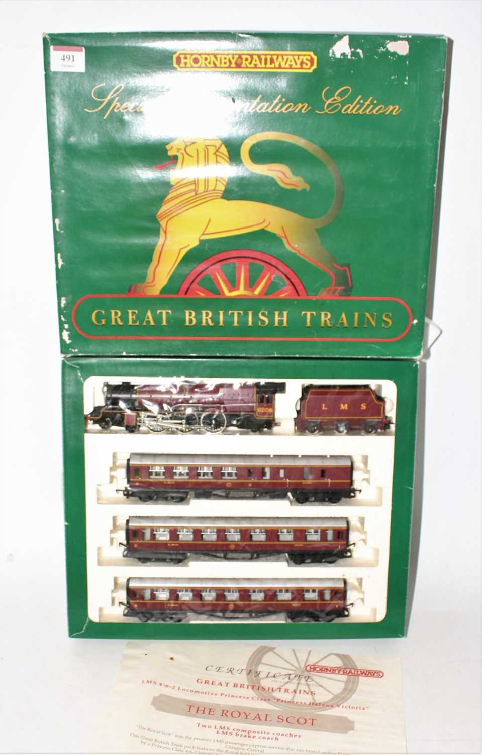 A Hornby Railways limited edition Princess Class Helena Victoria Royal Scot train pack, limited