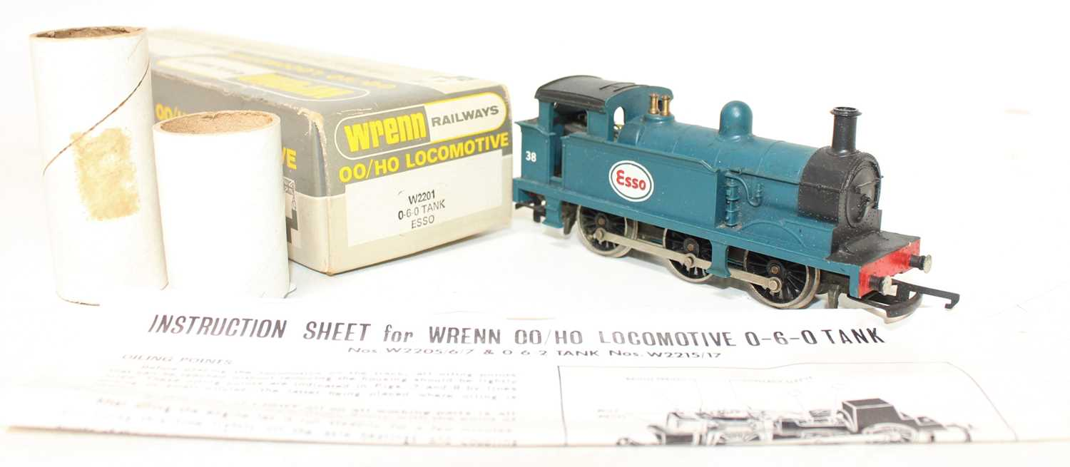 A Wrenn Railways No. W2201 Esso 0-6-0 tank loco finished in blue with No. 38 to cabsides, housed - Image 2 of 2