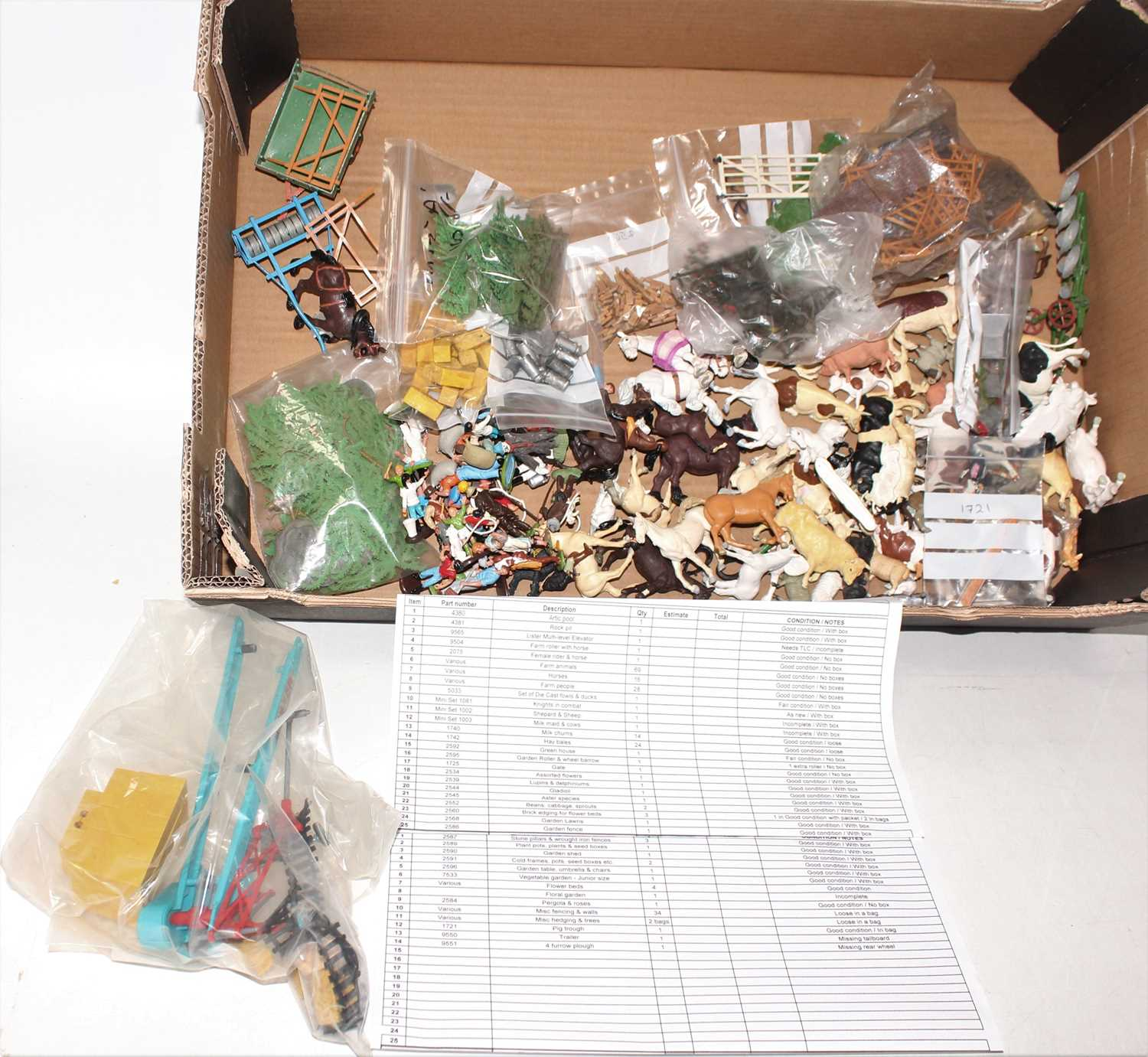 A single owner collection of various Britains floral garden miniatures, mini gift sets and zoo - Image 2 of 4