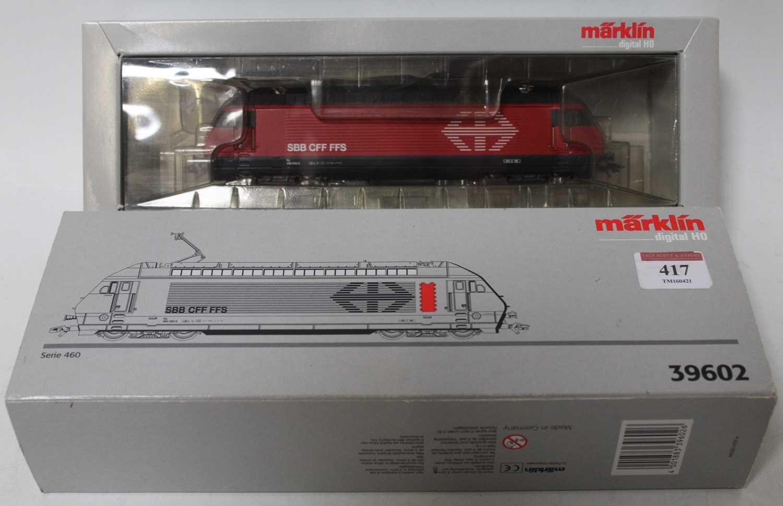 Marklin digital H0 SBB-FFS Serie 460 Bo-Bo electric locomotive red/black livery (M-BM), catalogue