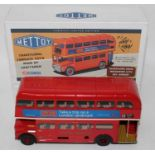 A Corgi Toys Mettoy re-issue tin plate and clockwork limited edition London Transport bus, fitted