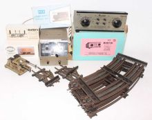 Two large trays containing a miscellany of 0 gauge items: Parkside Dundas kit PS09 LMS ventilated