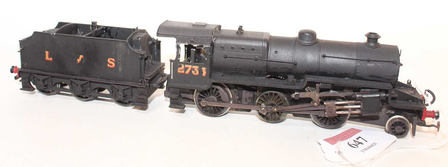 A kit built 00 gauge Hughes white metal Fowler Crab 2-6-0 locomotive finished in black with LMS - Image 2 of 2